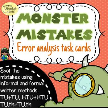 Error Analysis / Spot the Mistake Task Cards for Written Addition Methods