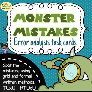 Error Analysis / Spot the Mistake Task Cards for Written M