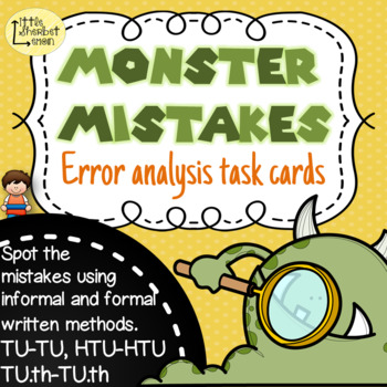Error Analysis / Spot the Mistake Task Cards for Written S