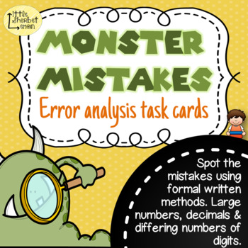 Error Analysis / Spot the Mistake Task Cards for Written Subtraction Methods 5/6