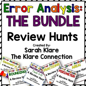 Error Analysis: THE BUNDLE! {A Collection of 3rd Grade Review Hunts}