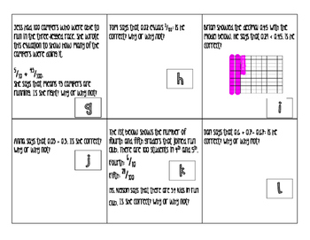 Error Analysis Task Cards- Decimals