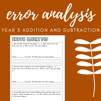 Error Analysis: Year 3 Addition and Subtraction