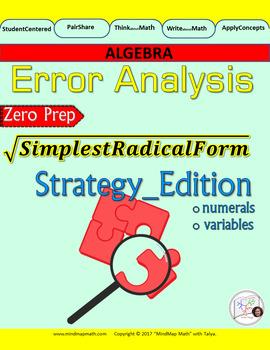 Error Analysis : Simplifying Radical Expressions