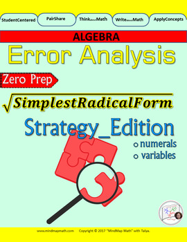 Error Analysis : STRATEGIES for Simplifying RADICAL Expressions