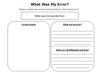 Error Analysis for Students: Self-Reflecting *EDITABLE