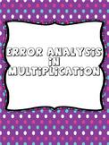 Error Analysis in Multiplication