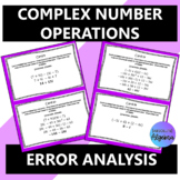 Complex Integer Operations:  Error Analysis