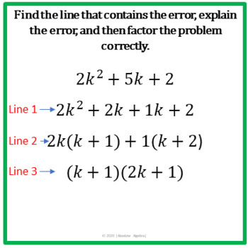 Error Analysis of Factoring Polynomials