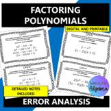 Factoring Polynomials:  Error Analysis