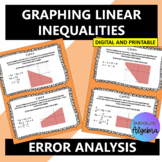 Graphing Inequalities Error Analysis