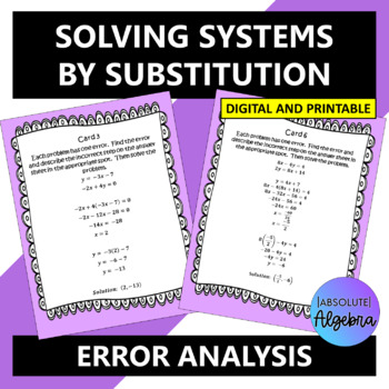 Error Analysis of Linear Systems of Equations using Substitution