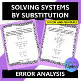 Solving Systems by Substitution Error Analysis Google Form