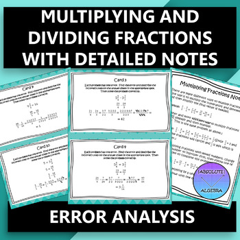 Error Analysis of Multiplying and Dividing Fractions