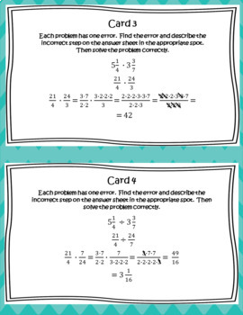 Error Analysis: Multiplying and Dividing Fractions