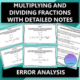 Multiplying and Dividing Fractions Error Analysis
