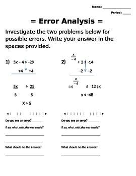 Error Analysis with Two Step Inequlities