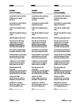 Feedback Guide for Writing Tasks
