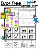 Error Free Alphabet Independent Activities
