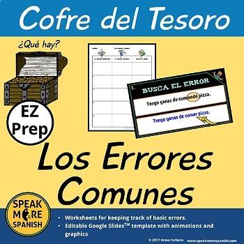 Errores Comunes de Gramática y Vocabulario en Español. Digital and PDF Spanish.