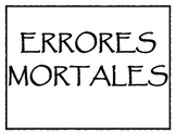 Errores Mortales de Español (Deadly Sins of Spanish)