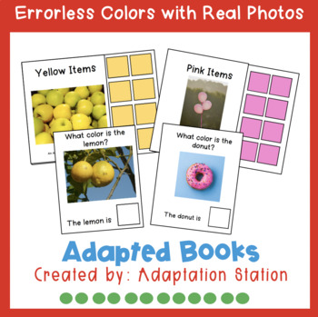 Errorless Adapted Books: Colors with Real Photos (Growing Product)