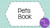 Pets Book for Life Skills and Autism Classrooms