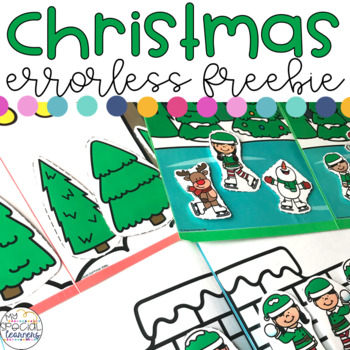 Errorless Christmas File Folders for Special Education FREEBIE
