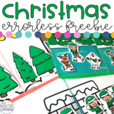 Errorless Christmas File Folders for Special Education FREEBIE