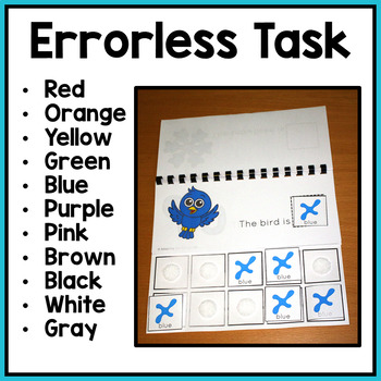Errorless Color Matching Flip Book for Special Education and Autism