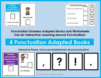 Errorless Comma Punctuation Practice Adapted Book