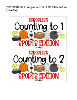 Errorless Counting File Folders for Special Education - Sports Edition