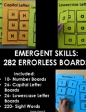 Errorless Learning Emergent Skills: Letters, Dolch Sight Words and Number Boards