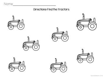 Errorless Farmer Worksheet Pack
