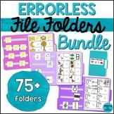 Errorless File Folder Activities BUNDLE - Special Educatio