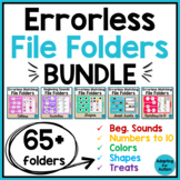Errorless File Folder Activities BUNDLE - Special Educatio