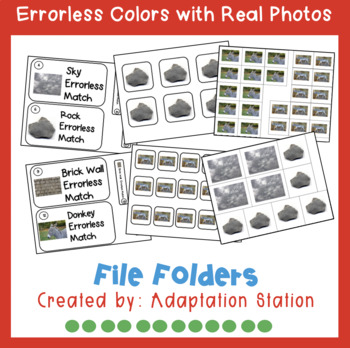 Errorless File Folders: Colors with Real Pictures (Growing Product)