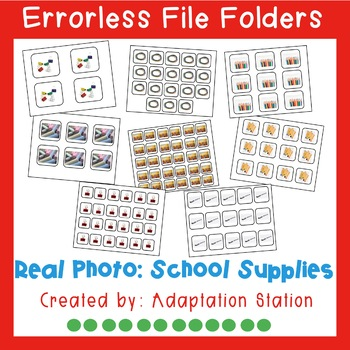 Errorless File Folders: School Supplies with Real Pictures