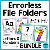 Errorless File Folders for Special Education - Letters and Numbers BUNDLE