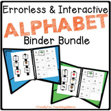 Errorless Interactive Alphabet Binders for Special Education