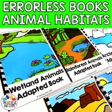 Errorless Learning Animal Habitats Adapted Books for Special Education