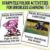 Errorless Learning File Folder Activities Farm