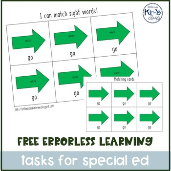 Errorless Learning Task Box / Independent Work for Autism / Special Ed Classroom