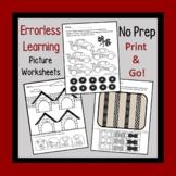 Errorless Learning Worksheets