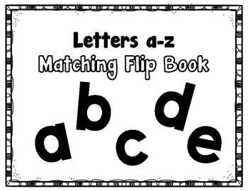 Errorless Matching Flip book (Lowercase)