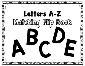 Errorless Matching Flip book (Uppercase)