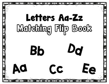 Errorless Matching Flip book (Uppercase to Lowercase)