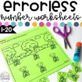 Errorless Number Worksheets for Special Education