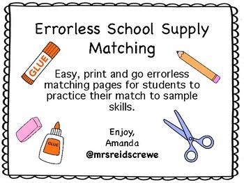 Errorless School Supply Matching Mats