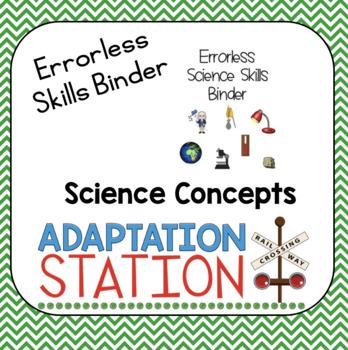 Errorless Science Skills Binder